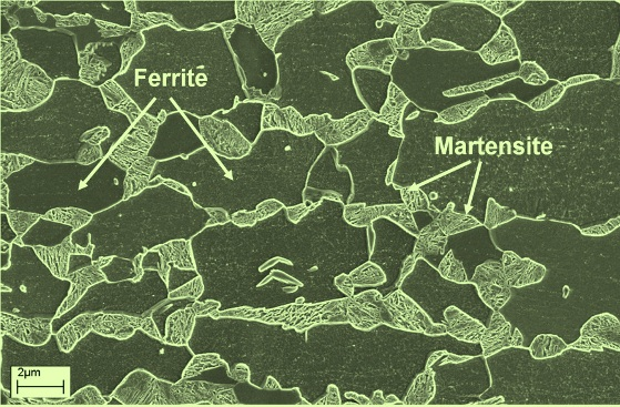 Microstructure of DP steel
