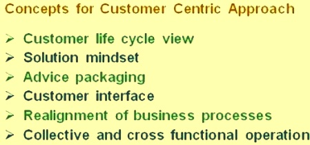Customer centric approach