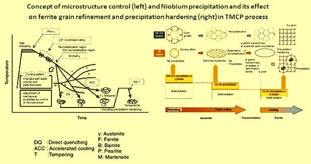 Concept of microstructure control and niobium precipitation in TMCP