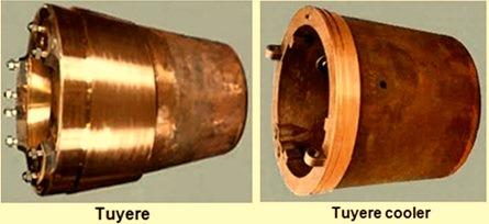 Tuyere and tuyere cooler